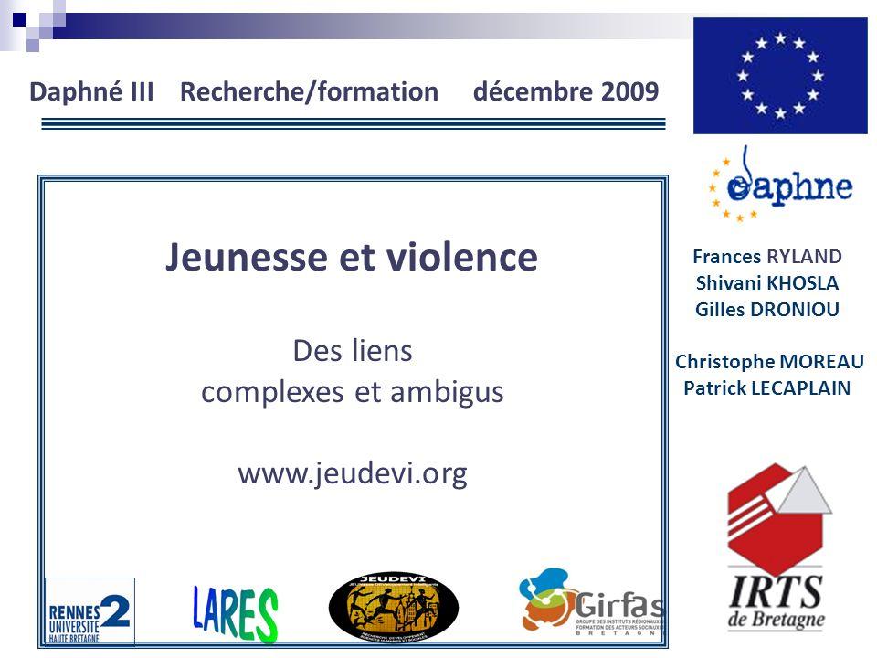 Daphné III Recherche/formation décembre 2009