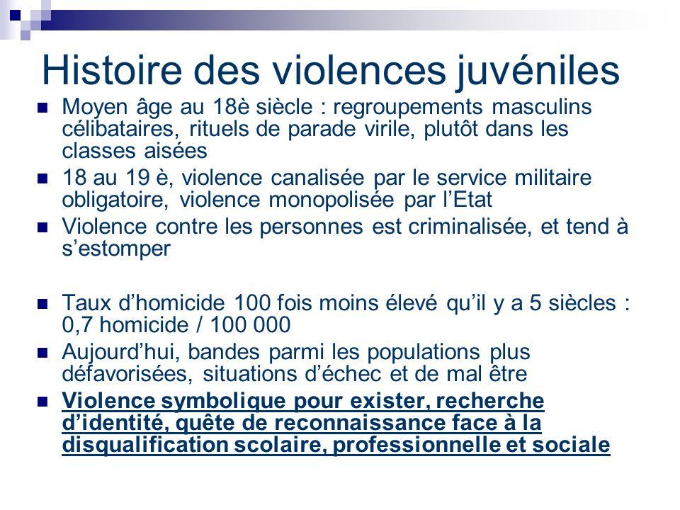 Histoire des violences juvéniles