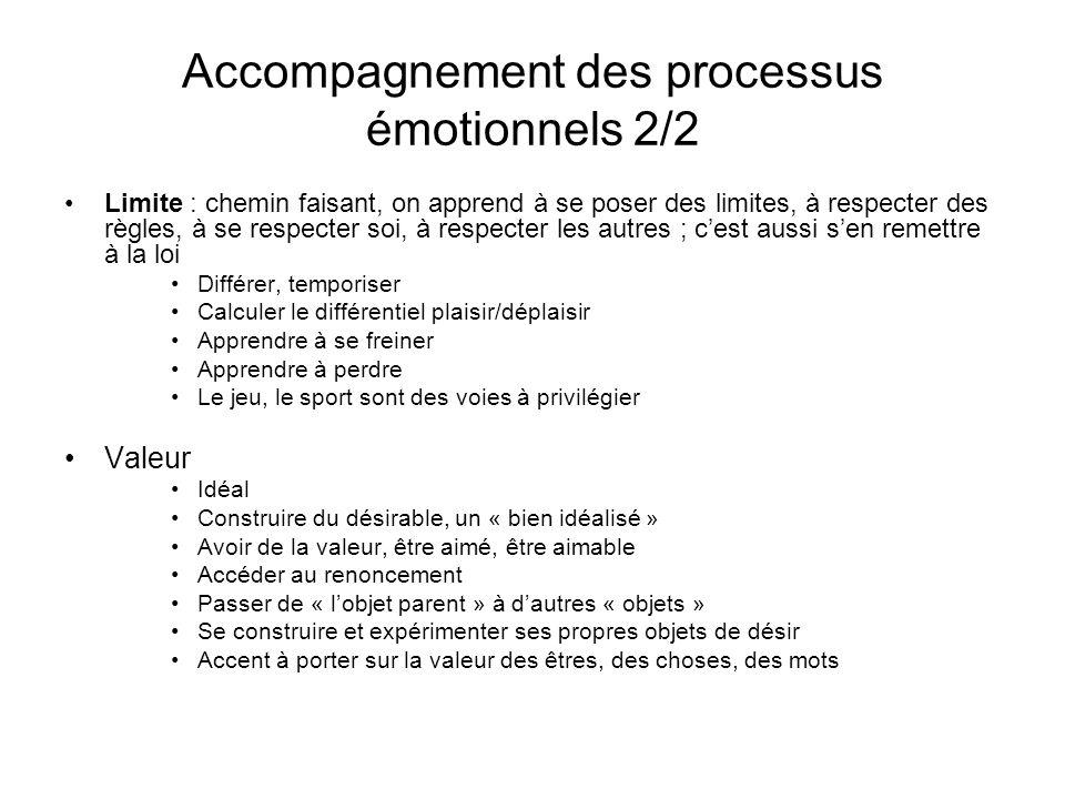 Accompagnement des processus émotionnels 2/2