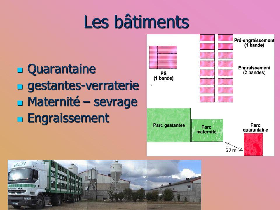 Les bâtiments Quarantaine gestantes-verraterie Maternité – sevrage