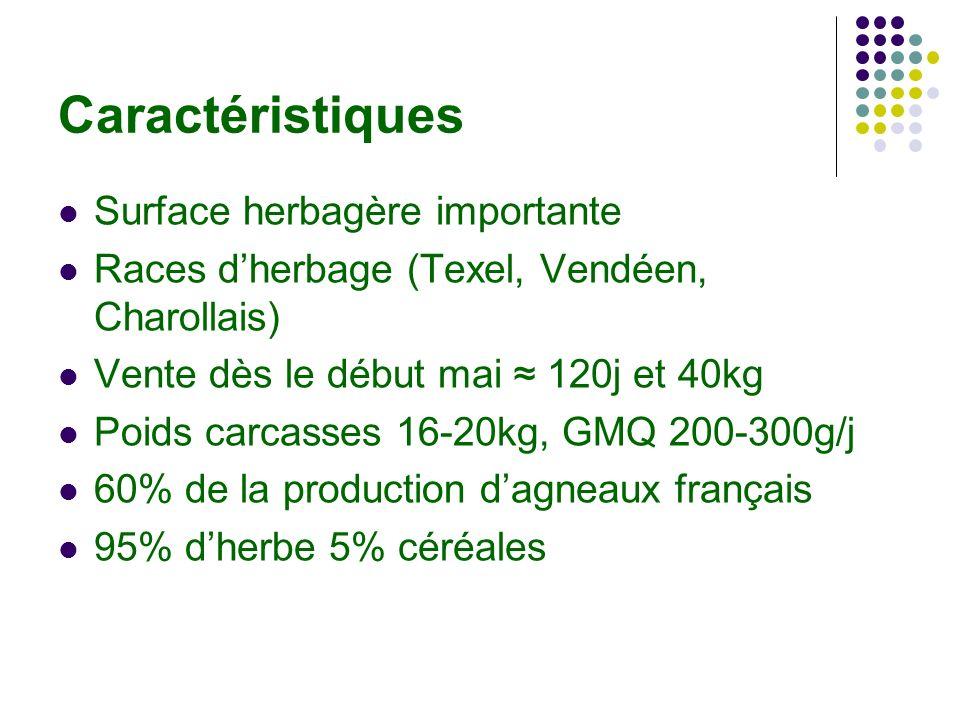 Caractéristiques Surface herbagère importante