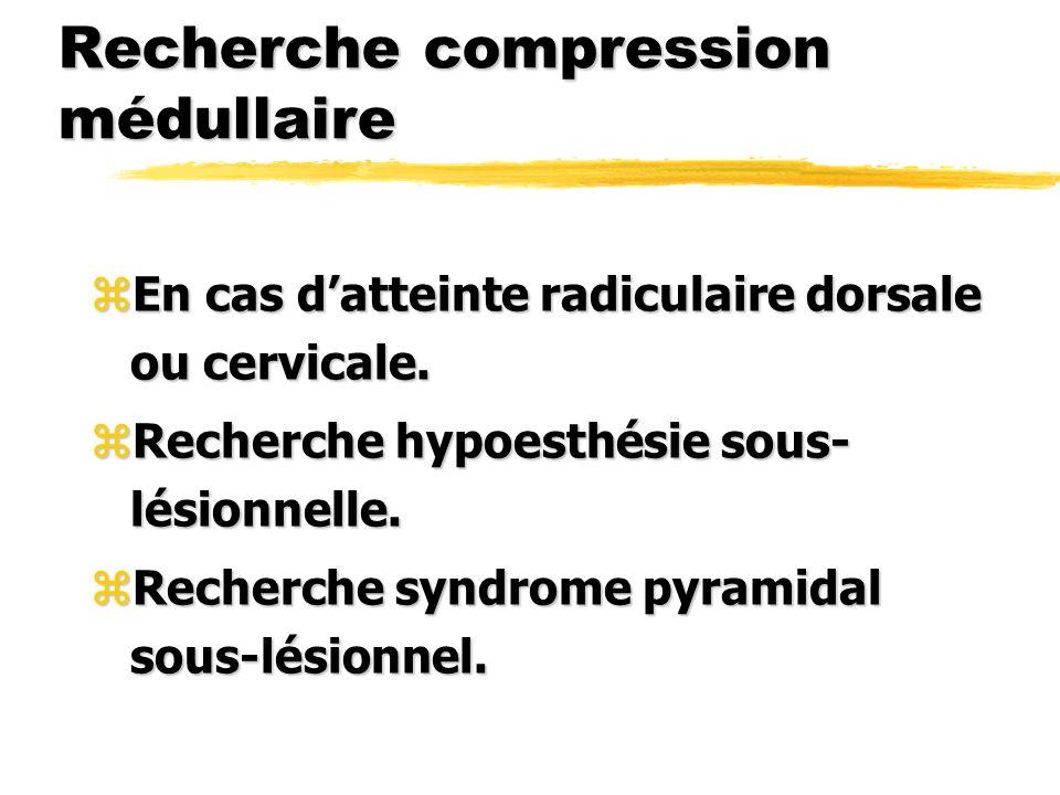 Recherche compression médullaire
