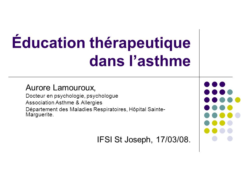 Éducation thérapeutique dans l'asthme