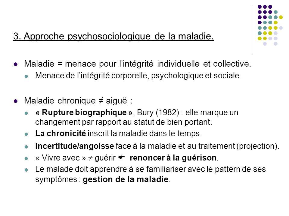 3. Approche psychosociologique de la maladie.