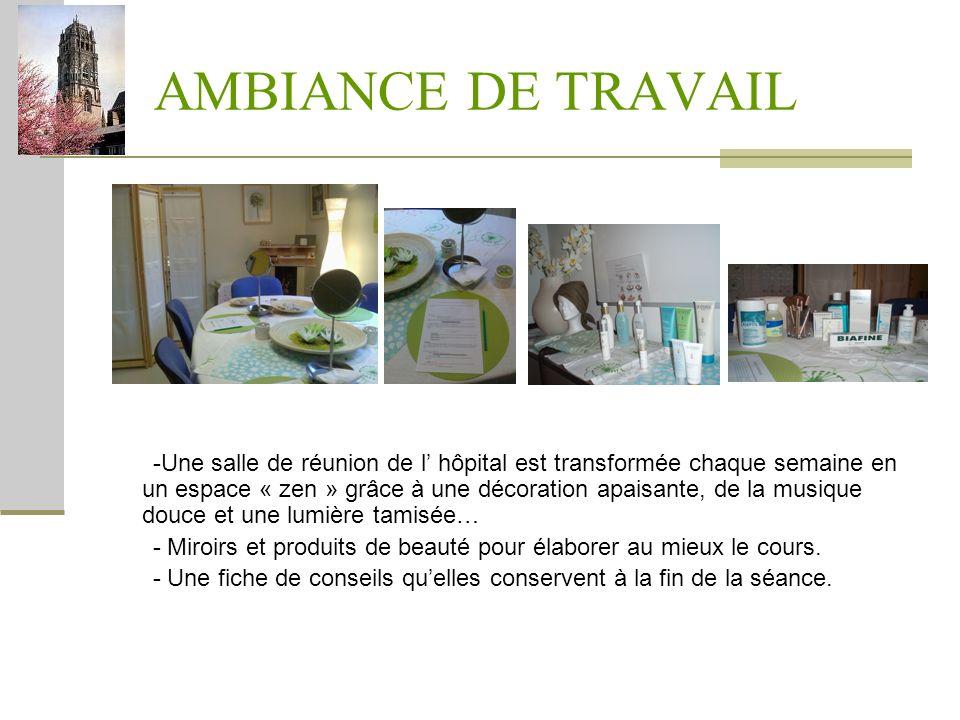 AMBIANCE DE TRAVAIL