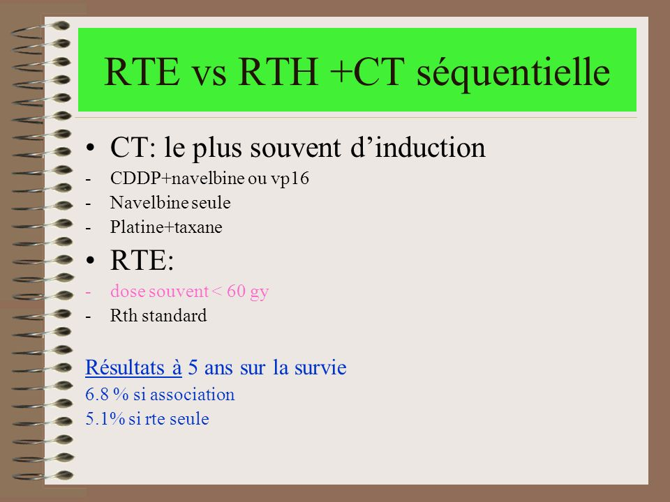 RTE vs RTH +CT séquentielle