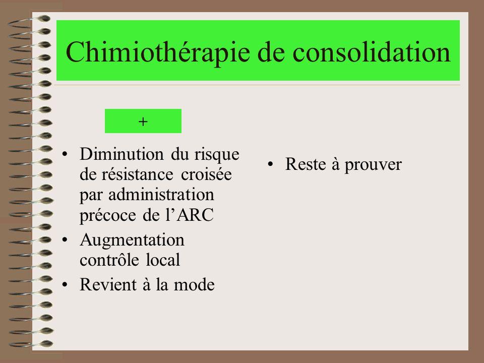 Chimiothérapie de consolidation