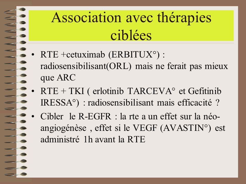Association avec thérapies ciblées