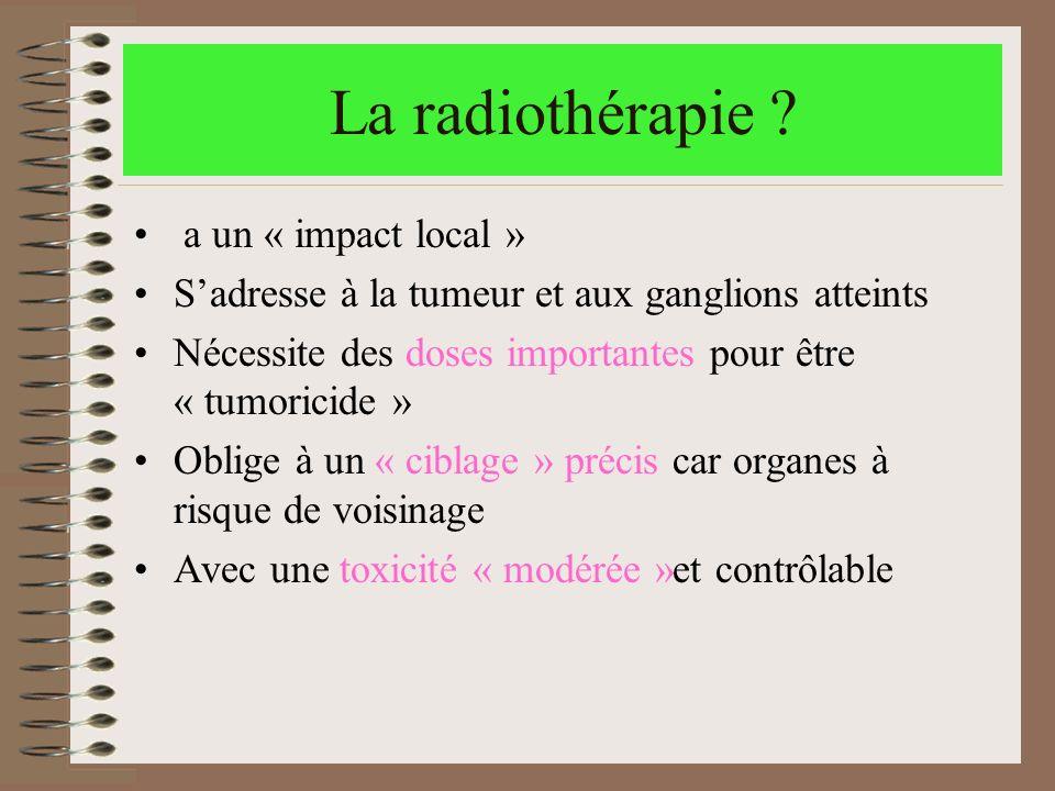 La radiothérapie a un « impact local »