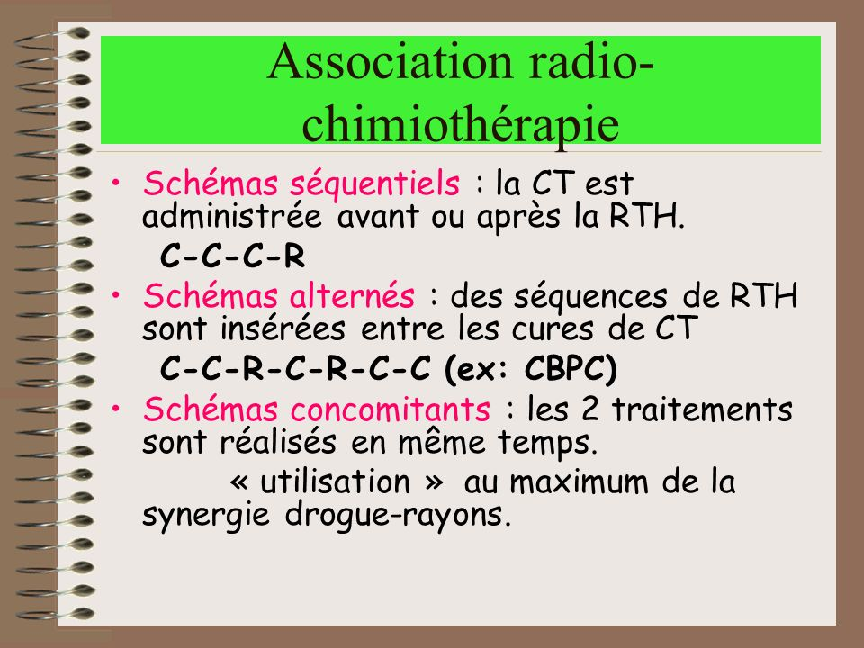 Association radio-chimiothérapie