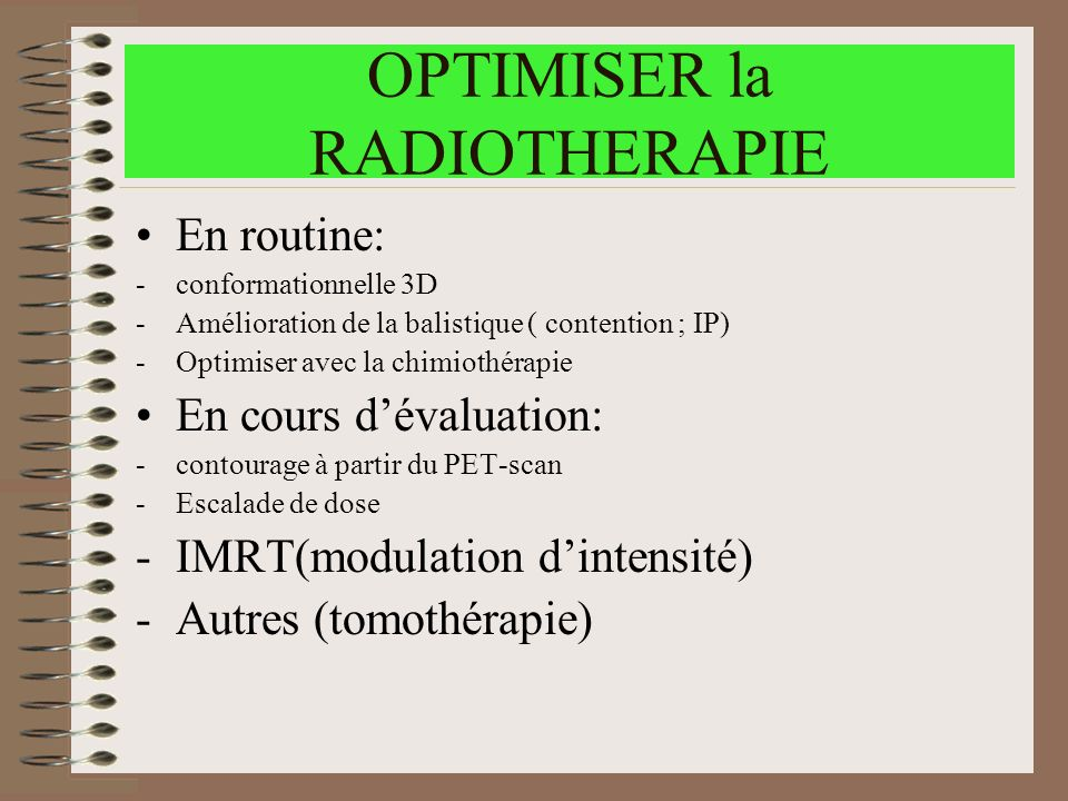 OPTIMISER la RADIOTHERAPIE