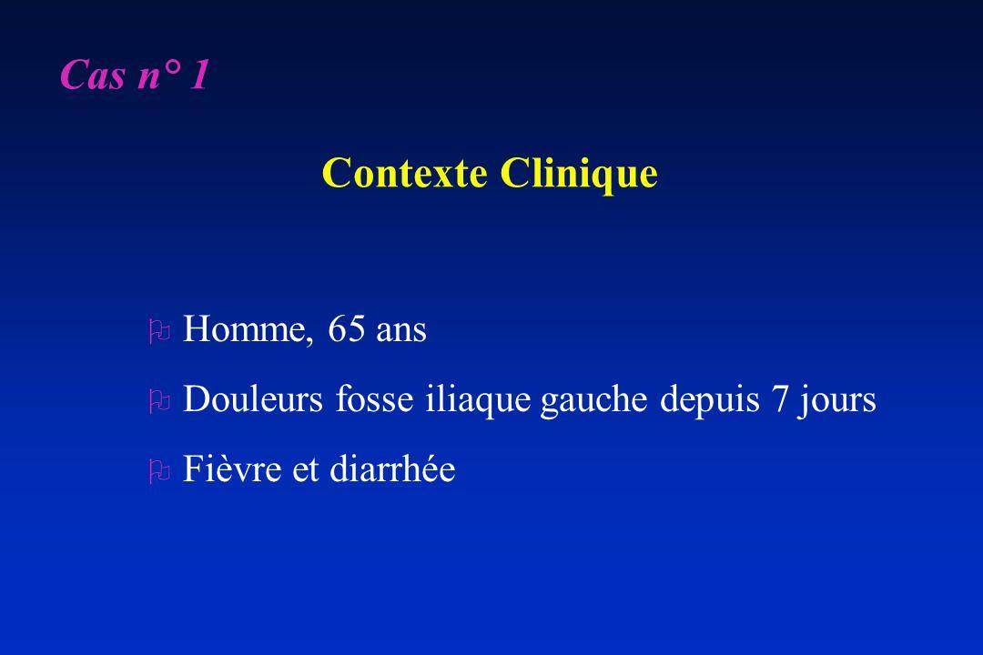 Cas n° 1 Contexte Clinique
