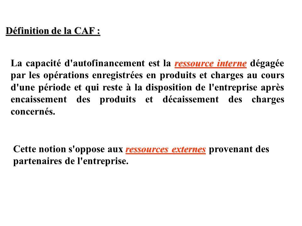 Définition de la CAF :