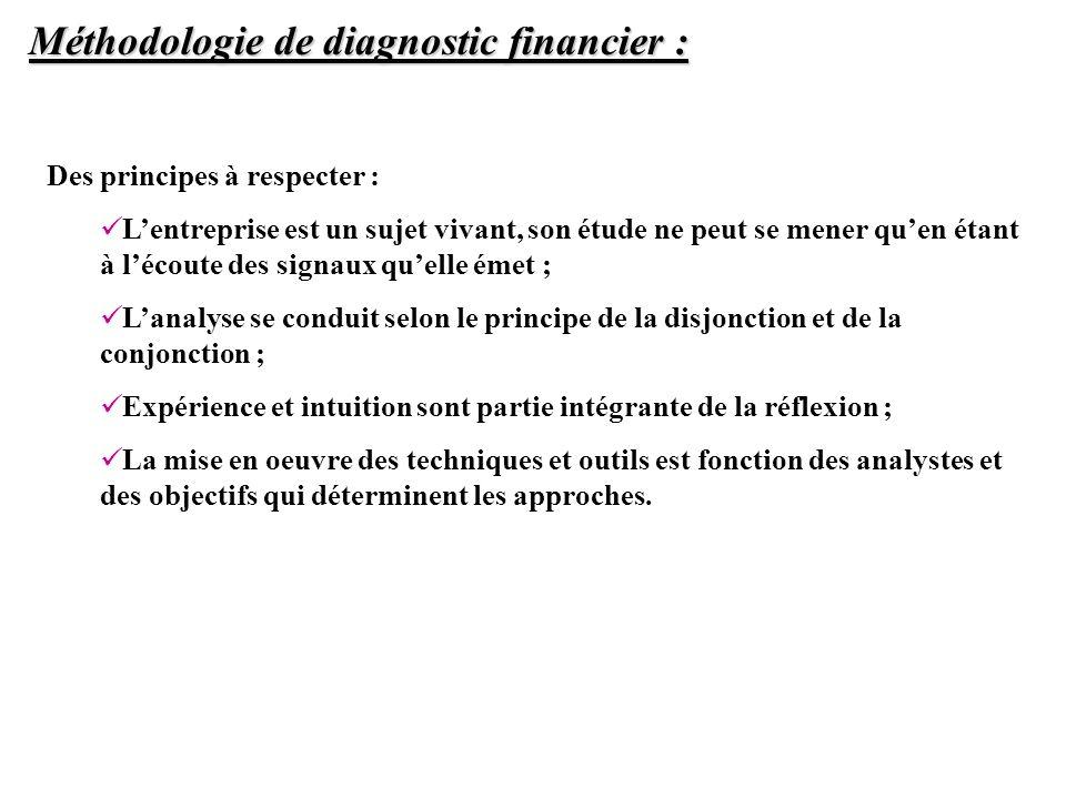 Méthodologie de diagnostic financier :