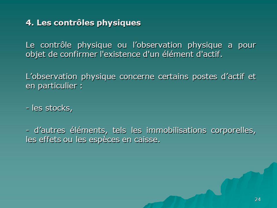 4. Les contrôles physiques
