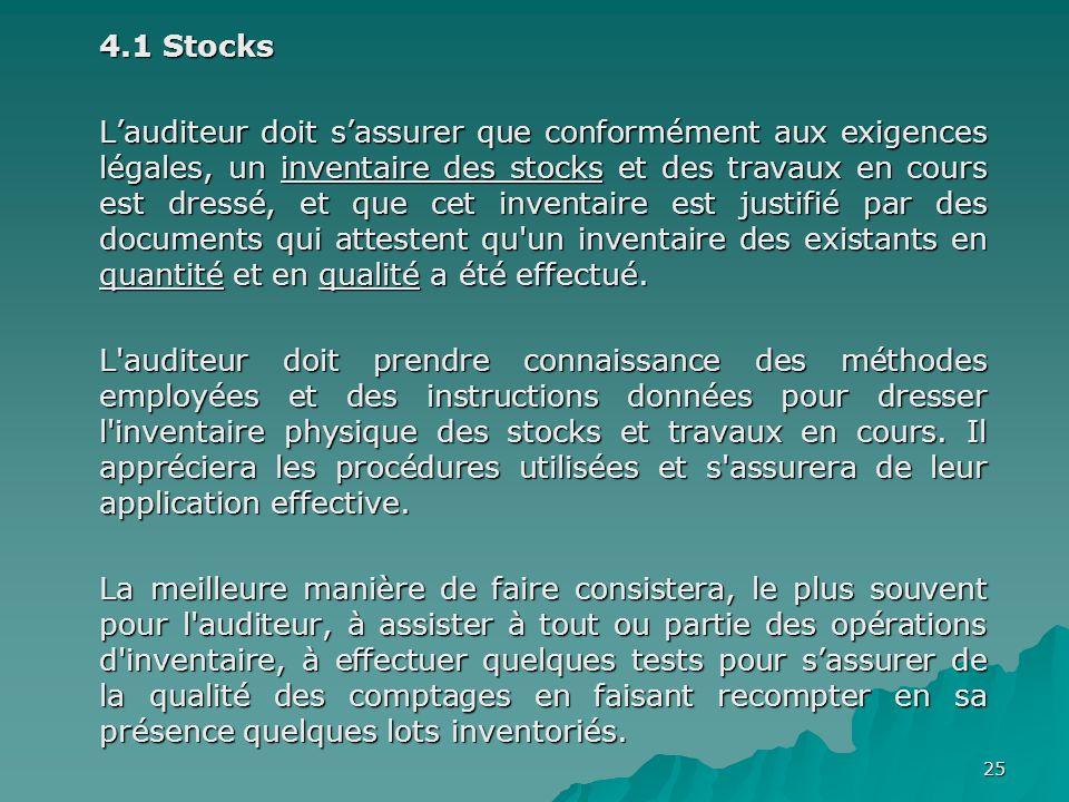 4.1 Stocks