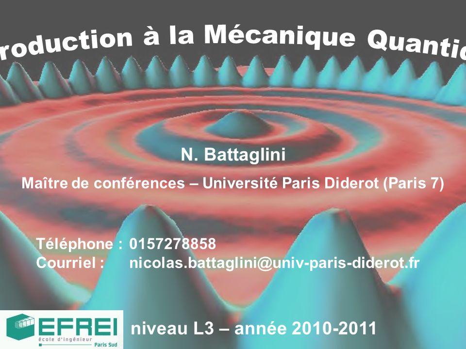 Maître de conférences – Université Paris Diderot (Paris 7)