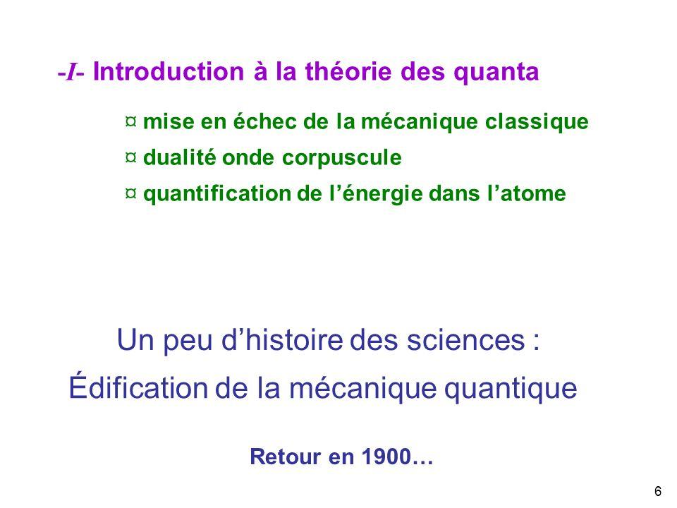 Un peu d'histoire des sciences :