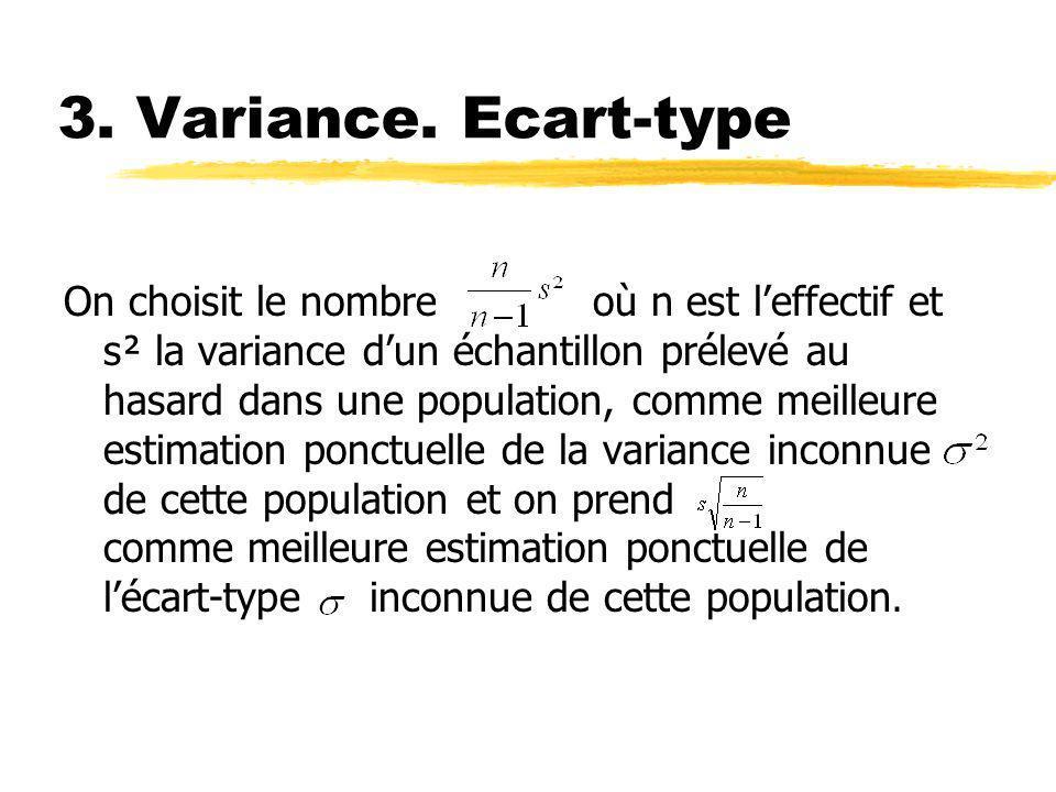 3. Variance. Ecart-type