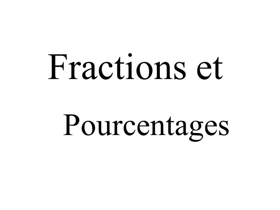 Fractions et Pourcentages