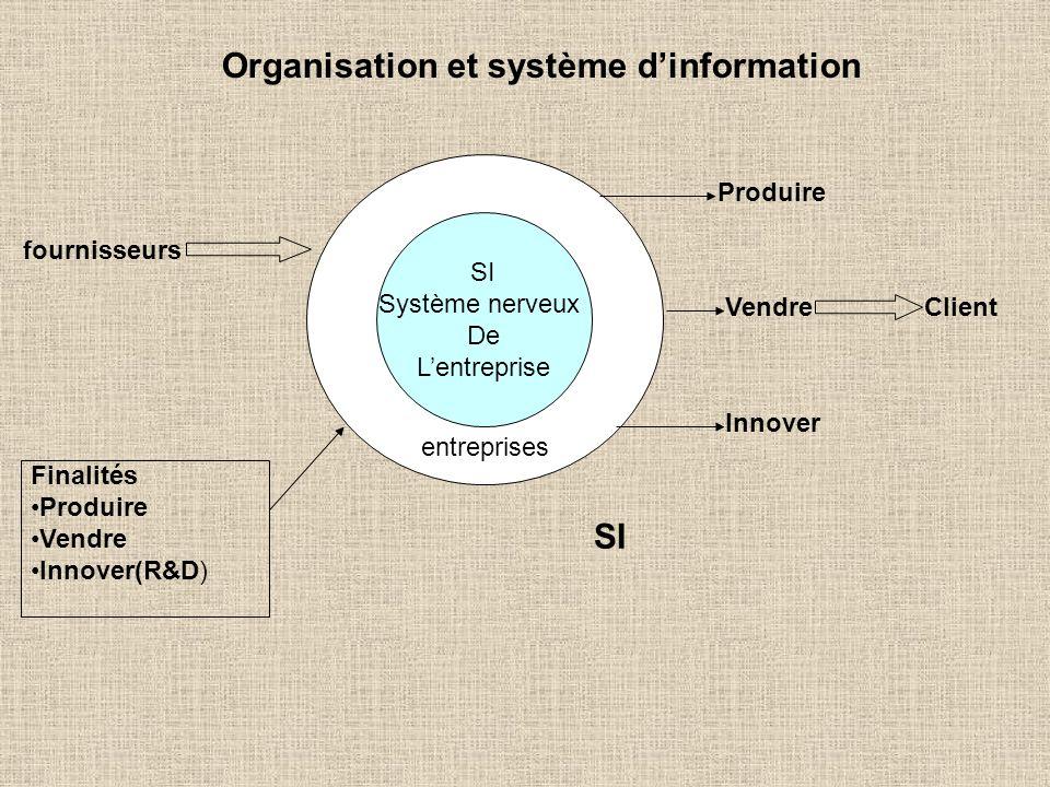Organisation et système d'information