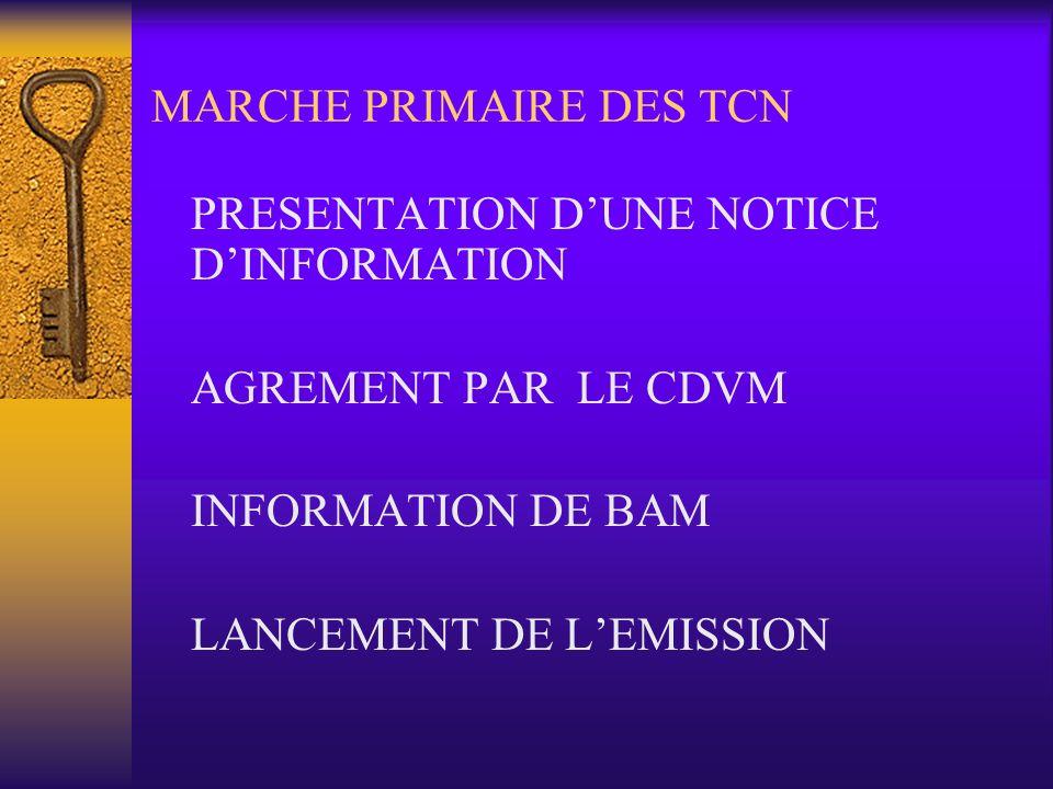 MARCHE PRIMAIRE DES TCN