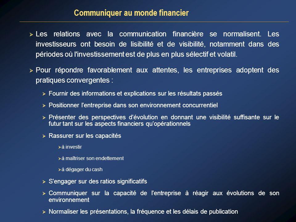 Communiquer au monde financier