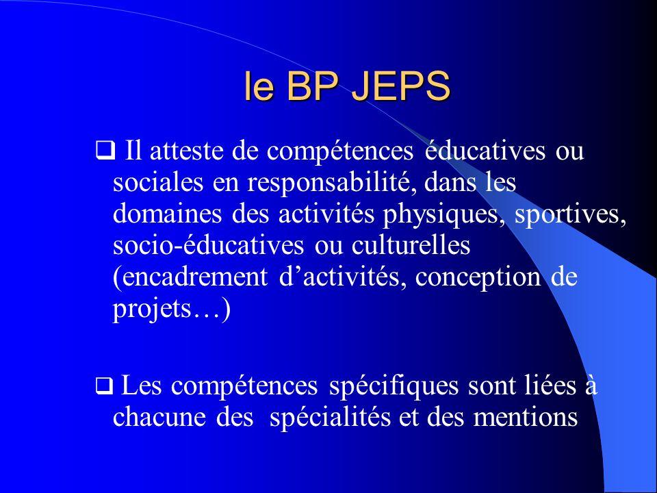 le BP JEPS