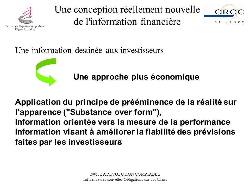 Une conception réellement nouvelle de l information financière
