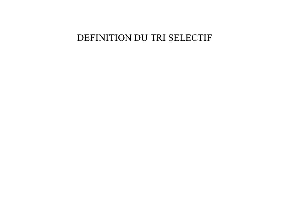 DEFINITION DU TRI SELECTIF