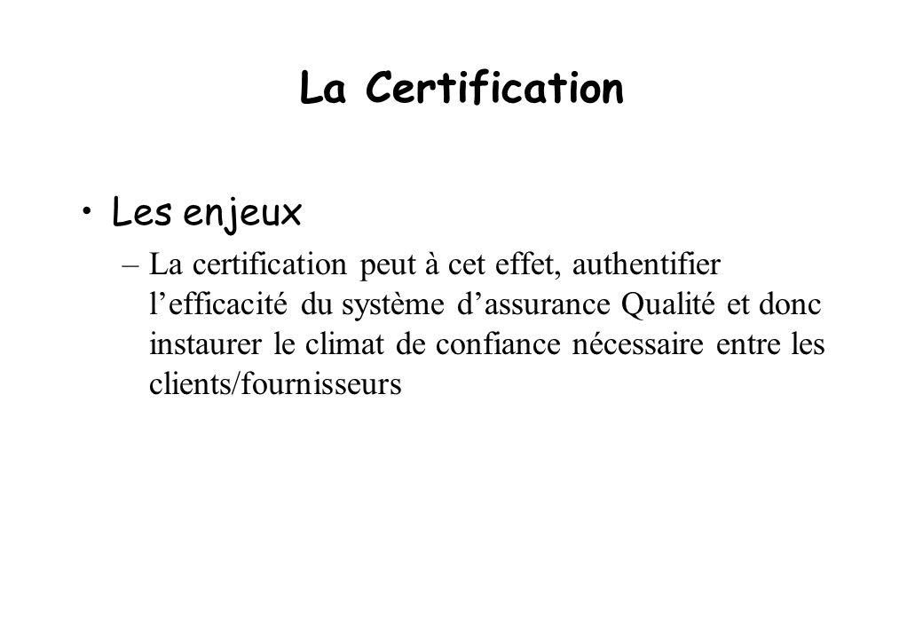La Certification Les enjeux