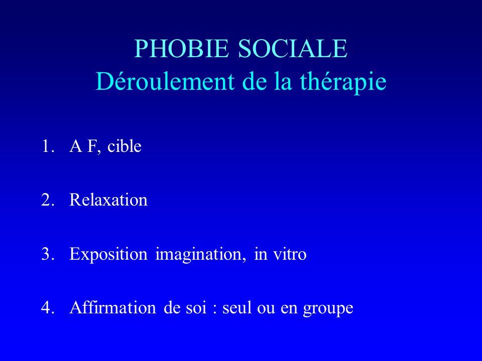 PHOBIE SOCIALE Déroulement de la thérapie