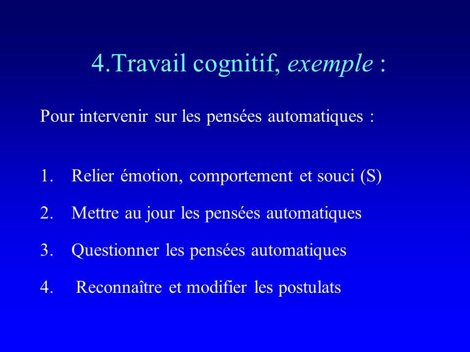 4.Travail cognitif, exemple :