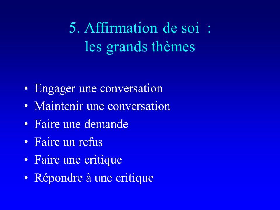 5. Affirmation de soi : les grands thèmes