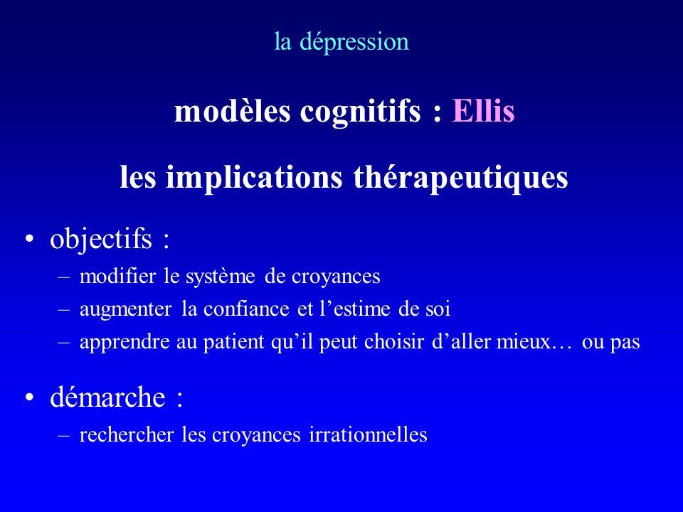 modèles cognitifs : Ellis les implications thérapeutiques