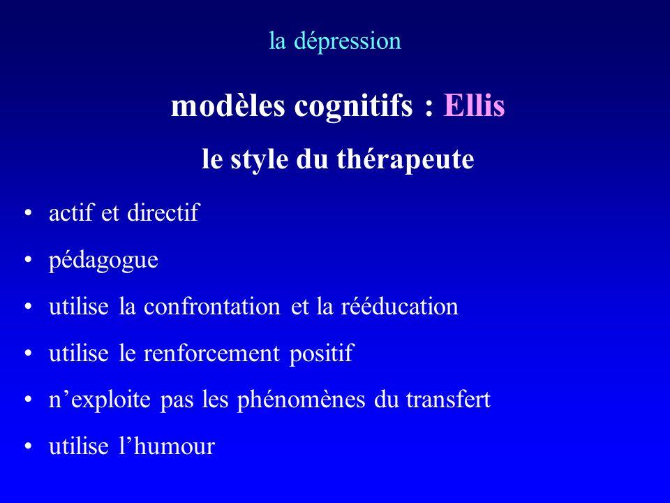 modèles cognitifs : Ellis