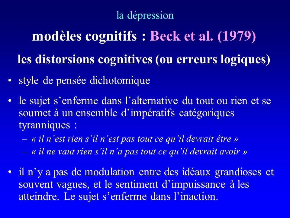 modèles cognitifs : Beck et al. (1979)
