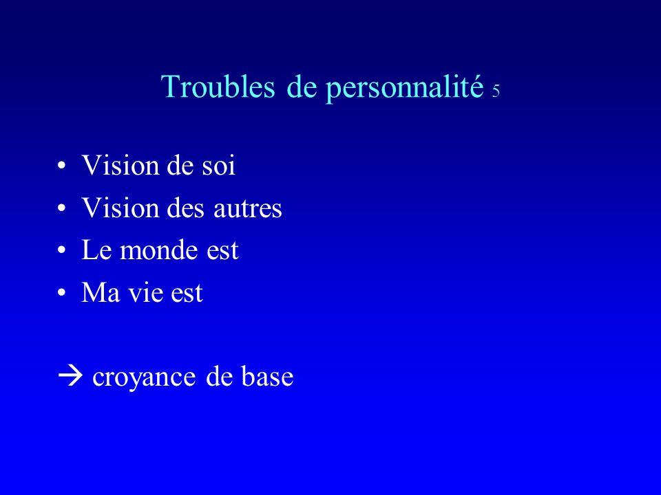 Troubles de personnalité 5
