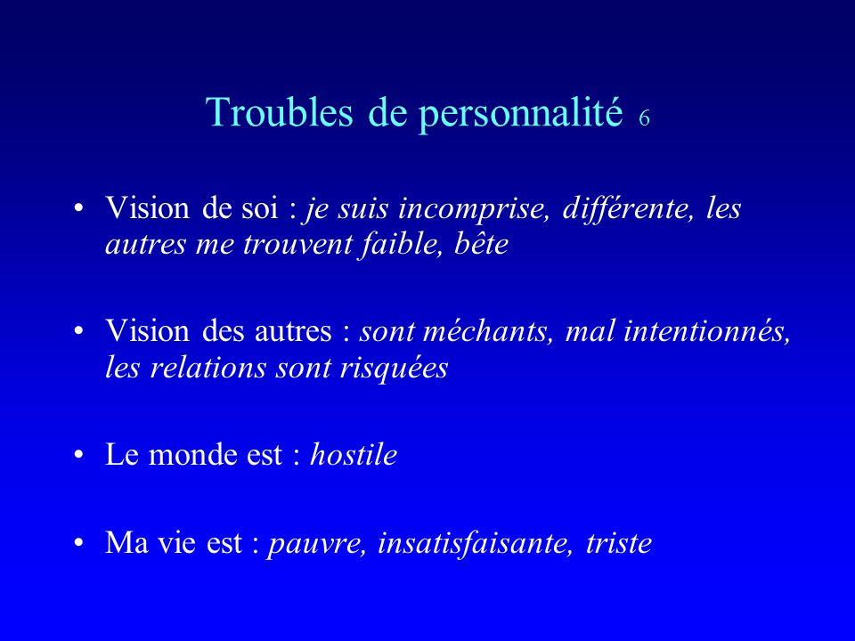 Troubles de personnalité 6