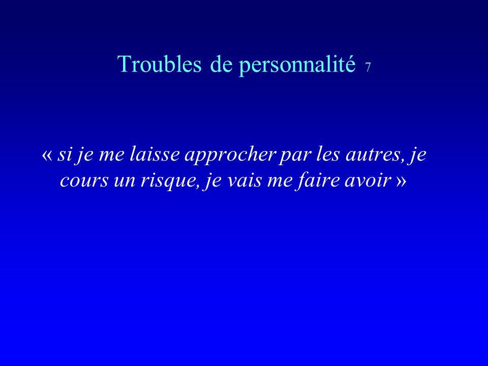 Troubles de personnalité 7