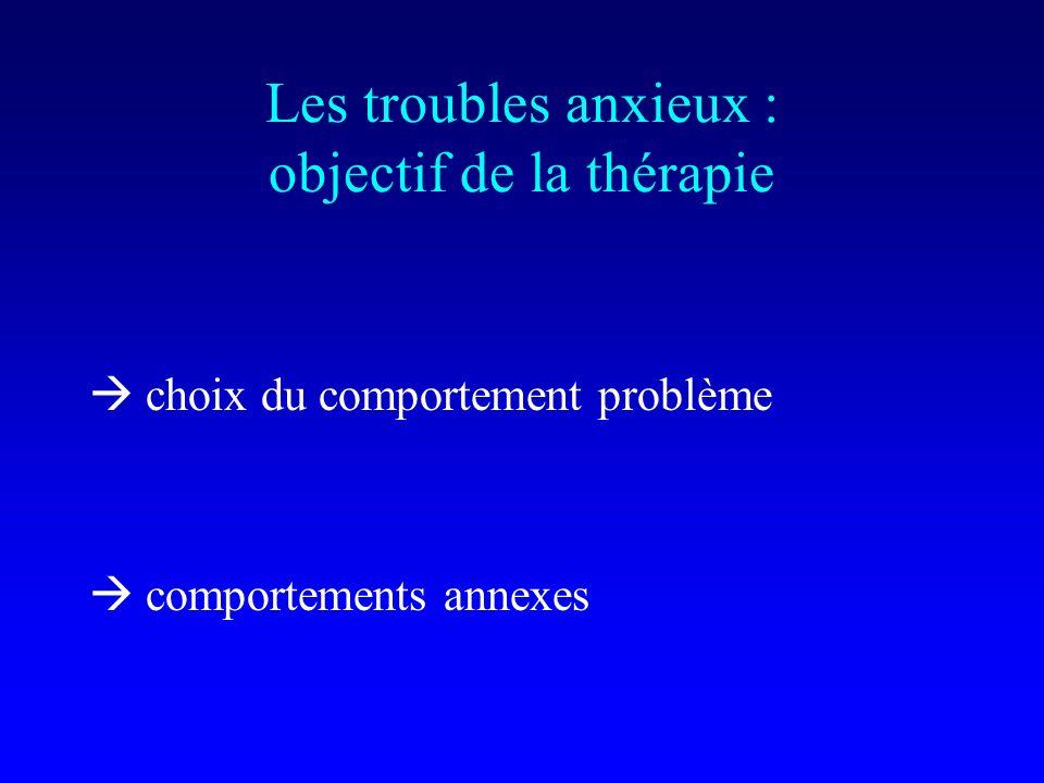 Les troubles anxieux : objectif de la thérapie