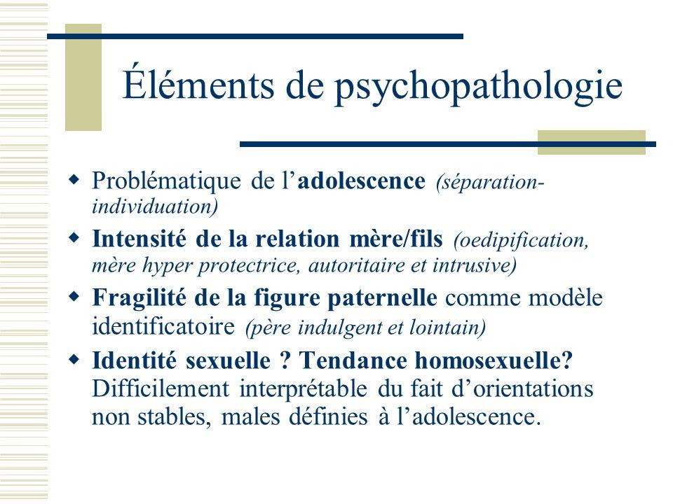 Éléments de psychopathologie