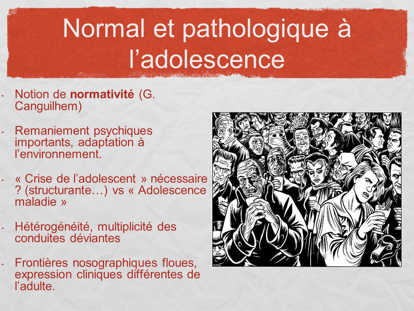 Normal et pathologique à l'adolescence