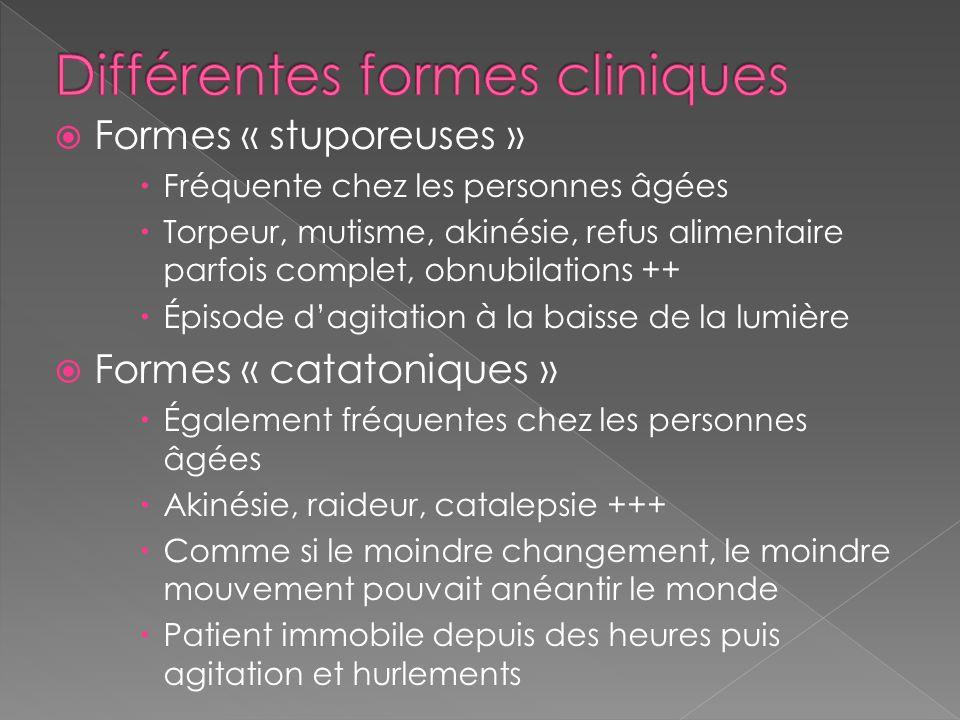 Différentes formes cliniques