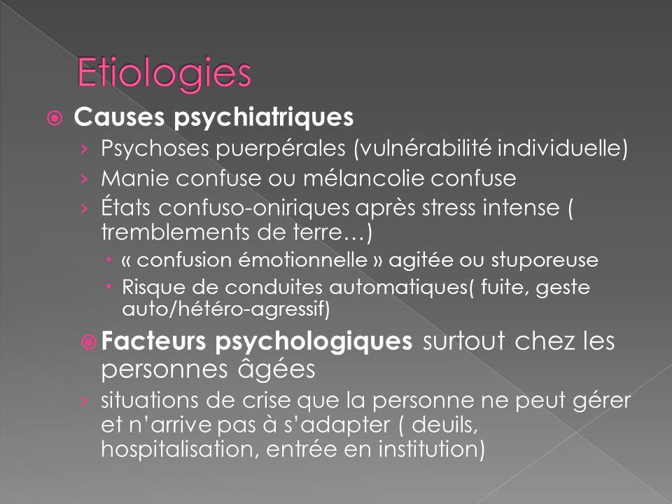 Etiologies Causes psychiatriques