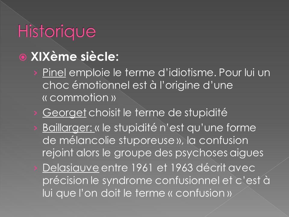 Historique XIXème siècle: