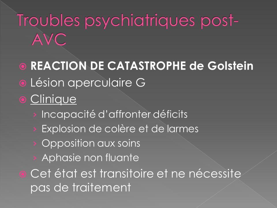 Troubles psychiatriques post-AVC