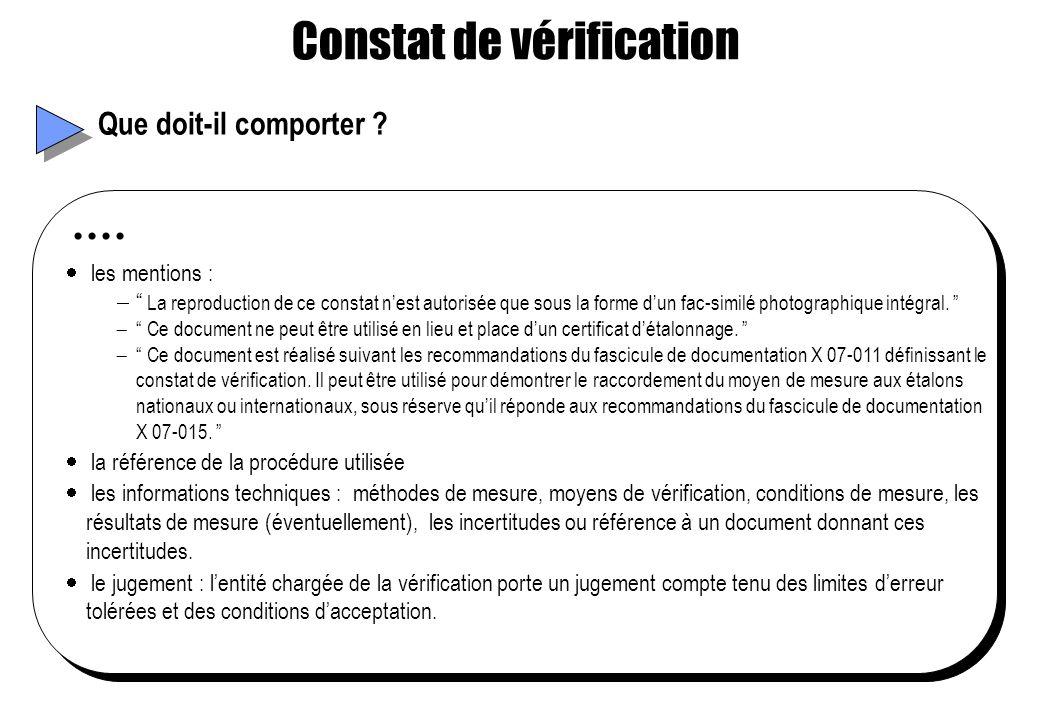 Constat de vérification
