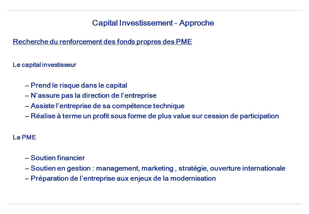 Capital Investissement - Approche