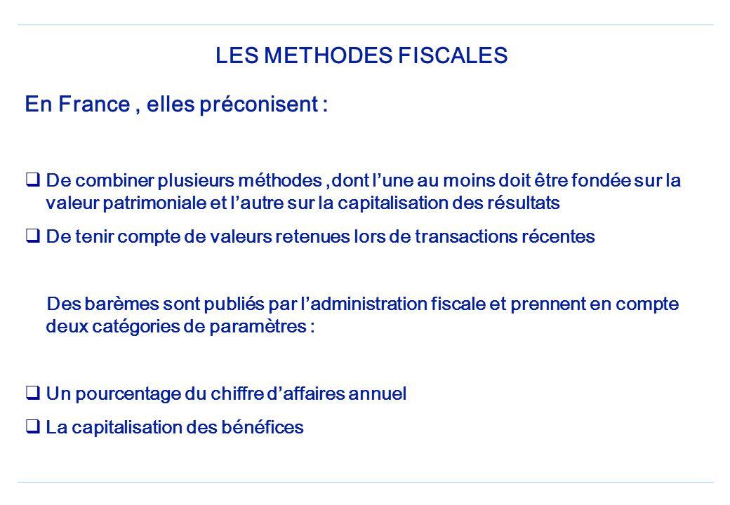 En France , elles préconisent :